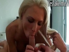 Busty gf Casey James fucked and facialed