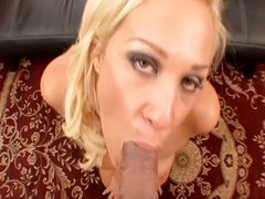 Hot wife Ava Delane shows off blowjob skills